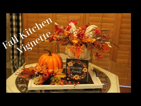 Fall Kitchen Vignette 2019 with Denise Jordan - Fall Decor - Fall Kitchen Decor