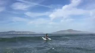 Schiller Water Bike on Rough Water In the San Francisco Bay