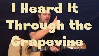 I Heard It Through The Grapevine (Marvin Gaye) Guitar Lesson How to Play Standard Tuning