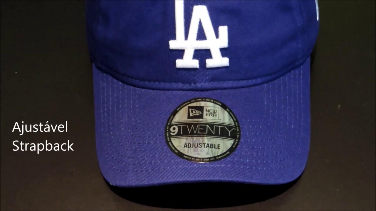 7e171d47cc544 Boné New Era Strapback Los Angeles Dodgers MLB 9TWENTY - Azul (Dad Hat)