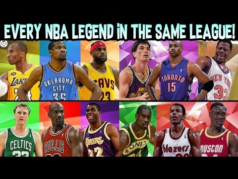 Putting EVERY NBA ALL-TIME LEGENDS TEAM in the SAME NBA SEASON!! NBA 2K18 MY LEAGUE