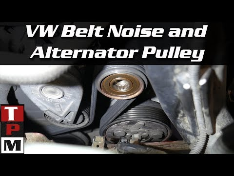 2005 VW Jetta TDI belt noise and alternator decoupler pulley replacement