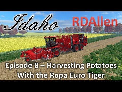 Farming Simulator 15 MP Idaho E8 - Harvesting Potatoes With The Ropa