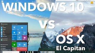 One to One: Windows 10 vs OS X El Capitan