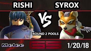 GENESIS 5 SSBM - VGBC | Rishi (Marth) VS BAL | Syrox (Fox) - Smash Melee Singles