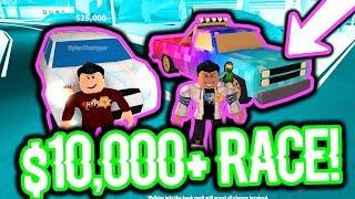 RACING IN ROBLOX JAILBREAK für 10.000 US-Dollar!!! (Mini Cooper VS Pickup Truck)