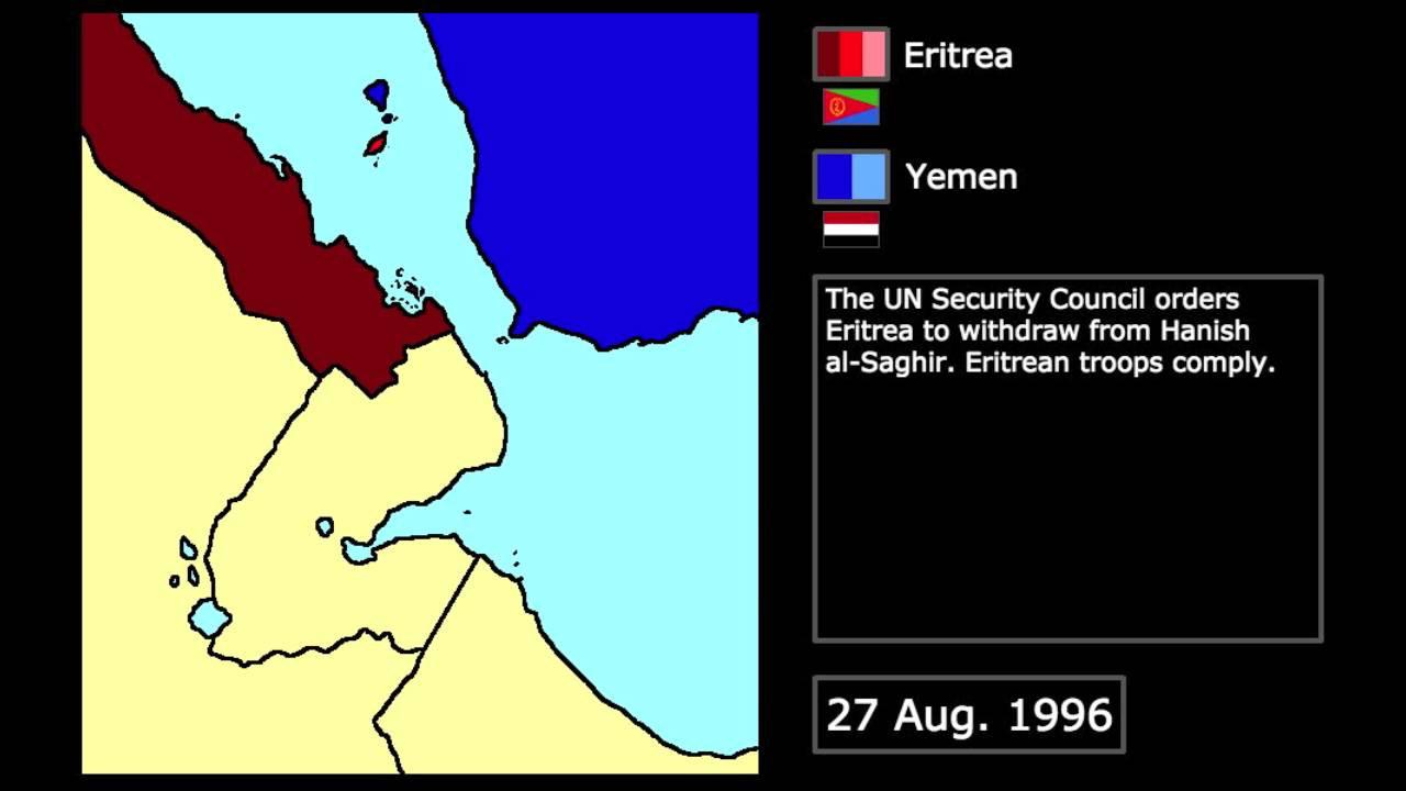 [Wars] The Hanish Islands Conflict (1995): Every Day - YouTube