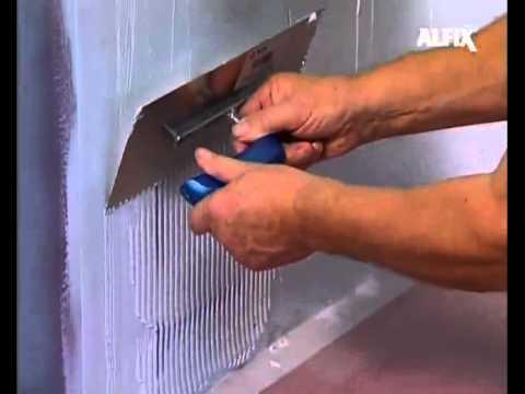 Vandtætning i badeværelser - Vandtætning med Alfix 1K Tætningsmasse