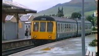 Class 108 DMU Arriving at Skipton 1992.