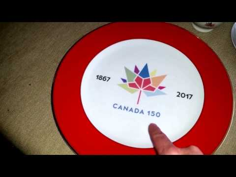 Www.Canada150Birthday.ca  Plates & Mugs With Canada's Official Logo