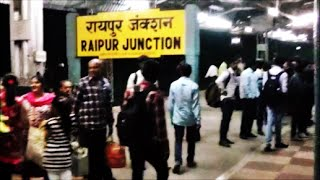 Arriving RAIPUR Junction:Onboard Train 12853 Amarkantak SF Express..Indian Railways!!