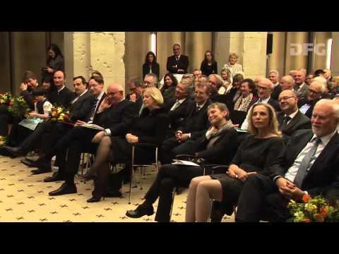 Gottfried Wilhelm Leibniz-Preisverleihung 2016 Dankesworte Prof. Savoy