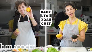 Download David Dobrik Tries to Keep Up with a Professional Chef | Back-to-Back Chef | Bon Appétit Mp3 and Videos