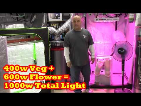 VENTING CANNABIS GARDENS - VENTED VS SEALED - SINGLE DUAL DUCT ACs - GROW BOOK AND EQUIPMENT GUIDE