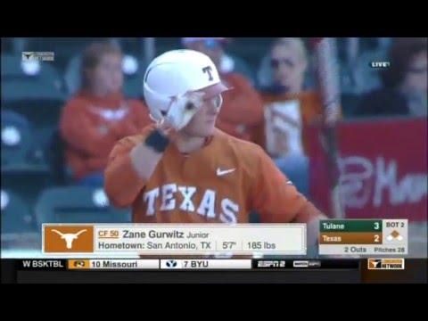 Baseball 2016 - Texas v. Tulane, Game 2