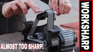 THE ULTIMATE KNIFE SHARPENER! THE WORKSHARP KEN ONION EDITION BLADE GRINDING ATTACHMENT.