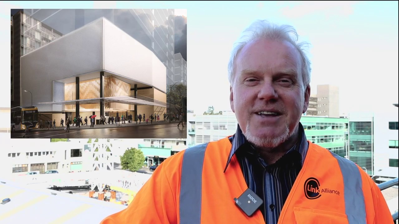 Ready for the  start of City Rail Link's Aotea central Auckland station