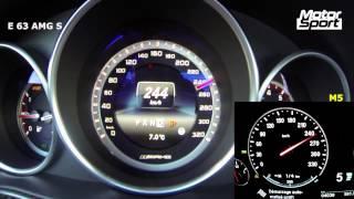 0-300 km/h : Mercedes E 63 AMG S 4 MATIC vs BMW M5 F10 (Speedo)