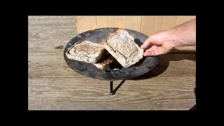 Free Fuel To Heat Your Home, does it really work?  Paper and cardboard fuel test