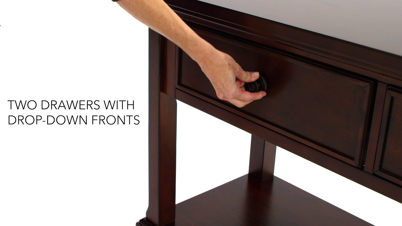 Ashley Homestore Porter Sofa Console Table Youtube