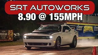 SRT Autoworks Hellcat hits 8's in the 1/4 Mile!