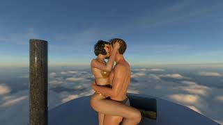 Kiss of Love, On Cloud9 (CGI Ray-Traced VR180 Slideshow)