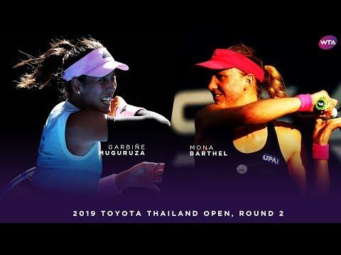 Garbiñe Muguruza vs.Mona Barthel   Toyota Thailand Open Second Round   WTA Highlights