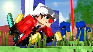 НЕБЕСНЫЙ КОНТРОЛЬ НА 250 ПОИНТОВ С ЗОЛОТЫМИ ЯБЛОКАМИ 5х5! Minecraft