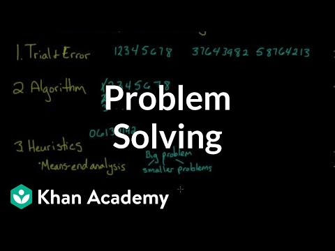 Problem solving | Processing the Environment | MCAT | Khan A