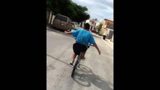 Sin manos en la bicicleta