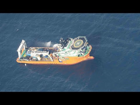 Oil tanker collision: Clean-up work begins in East China Sea