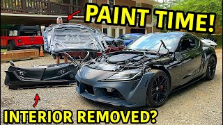 Rebuilding A Wrecked 2020 Toyota Supra Part 5