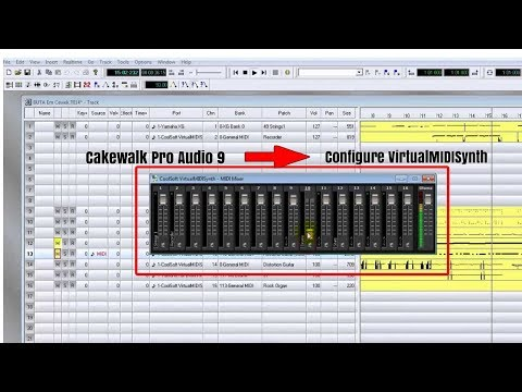 Cara Menghubungkan Cakewalk Pro Audio 9 Ke CoolSoft VirtualMIDISynth