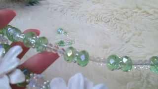 Collana di cristalli & margherite in cernit - Bigiotteria artigianale di Ruslana  Papusha