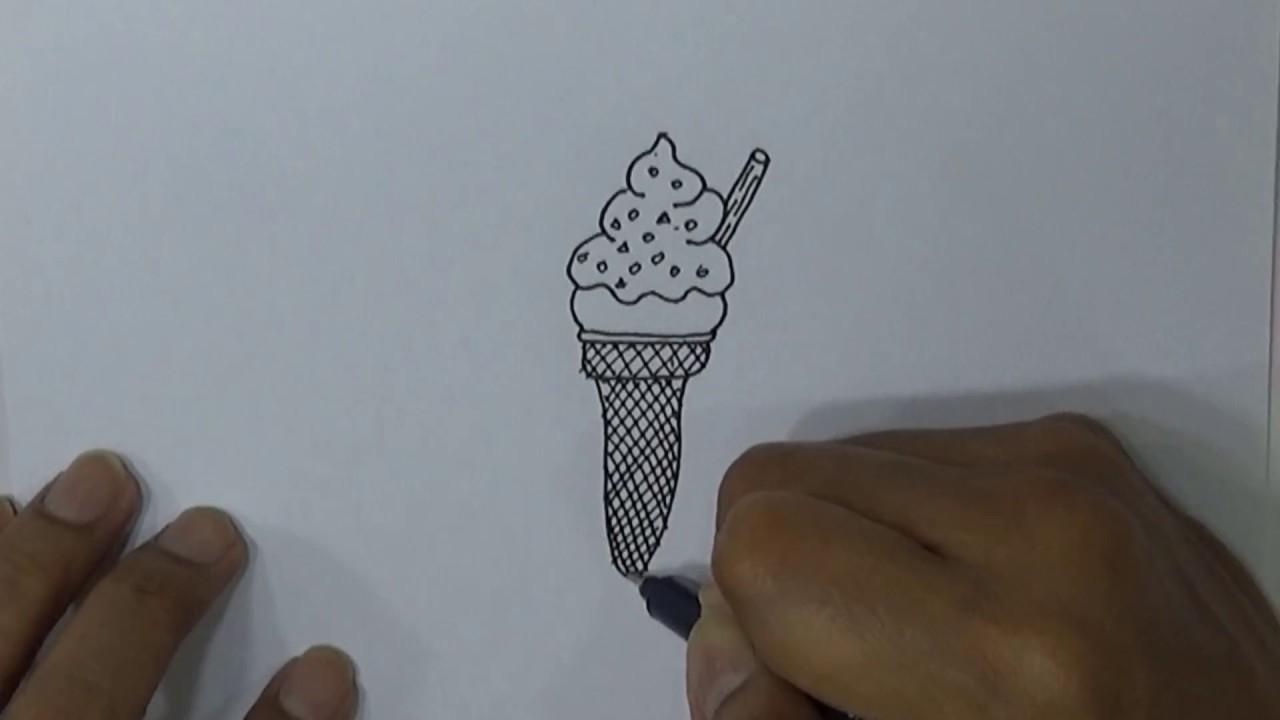 Belajar Cara Menggambar Es Krim Dengan Mudah Youtube