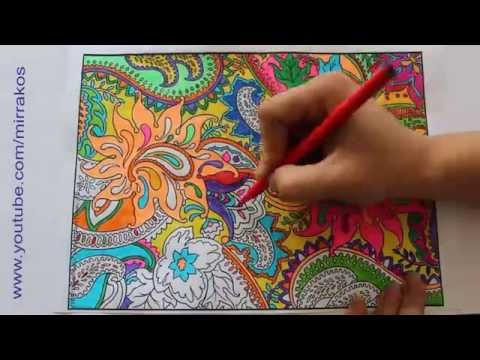Speed Art Painting Drawing Time Lapse Complicated Colouring For Adult Zentangle
