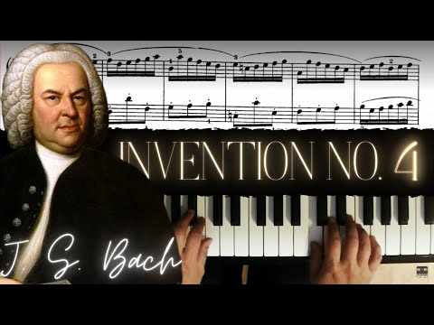 J.S. Bach: Two-Part  Invention No. 4 in D minor │ Classical Piano Lesson #1