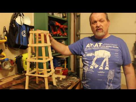 DIY Plant obelisk from scrap wood