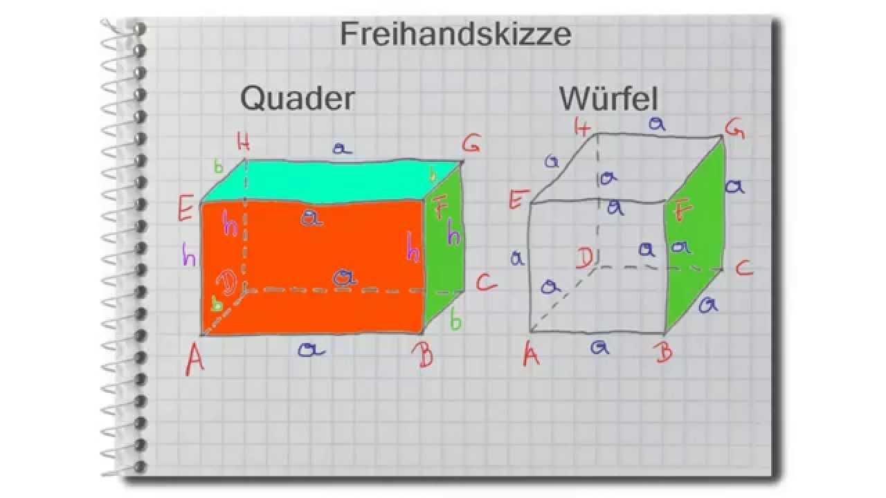 freihandskizze von quader und würfel - youtube