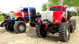 WHO CAN PULL MORE?! OPTiMUS vs BiG RED - Two Insane 6X6 RC TRUCKS Battle THE JUDGE | RC ADVENTURES