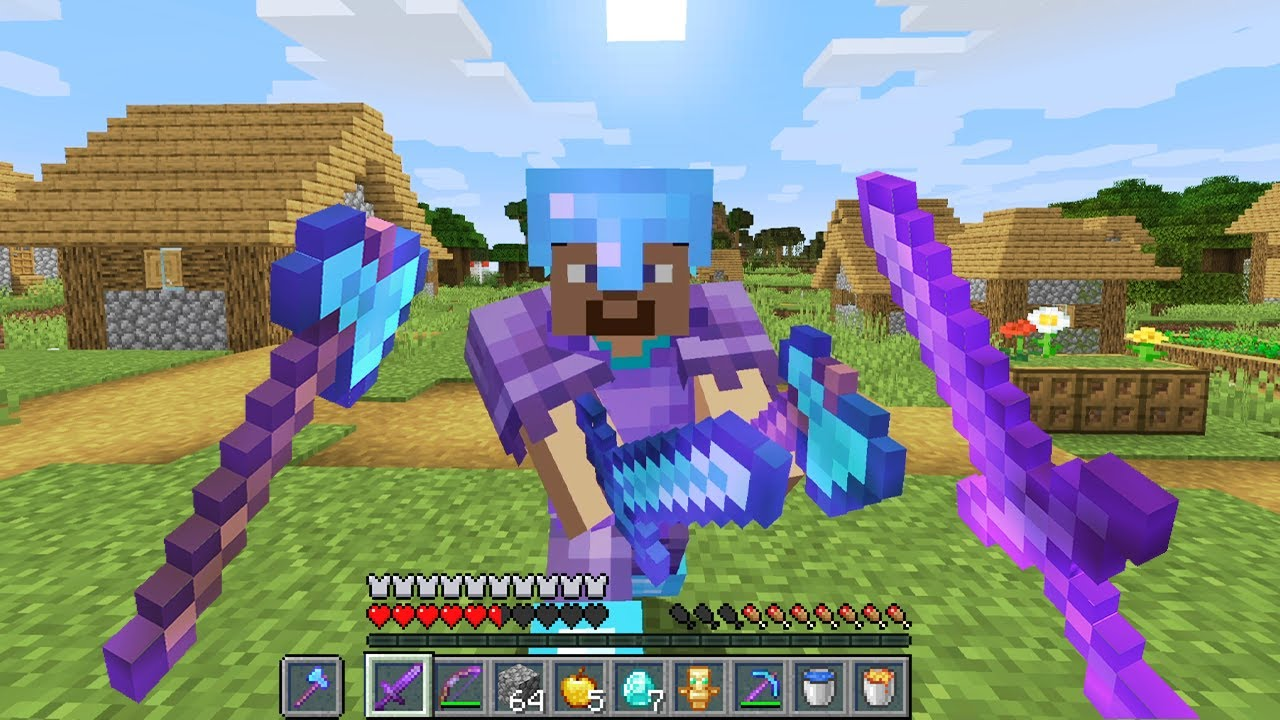 Download Minecraft UHC but you can dual wield weapons....