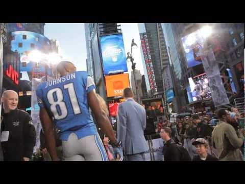 Madden NFL 13 - Calvin Johnson Cover Shoot in NYC