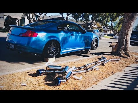How to install an exhaust , Infiniti g35 gets new exhaust