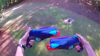MOD: Twin Selene Pistols (Enamel and Leather Wrapped Nerf Pistols)