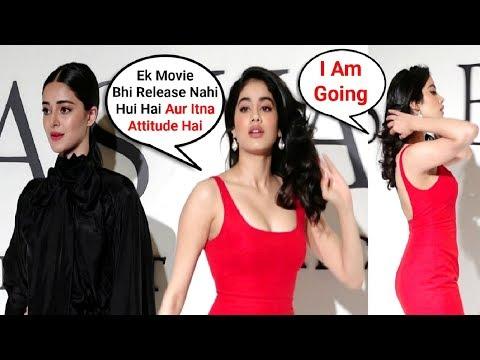 Jhanvi Kapoor IGNORES Ananya Pandey In Public - Watch Video