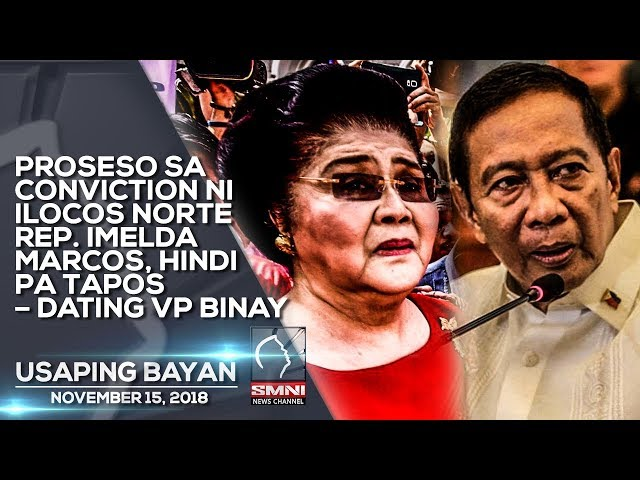 PROSESO SA CONVICTION NI ILOCOS NORTE REP  IMELDA MARCOS, HINDI PA TAPOS – DATING VP BINAY