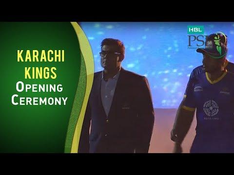 The Karachi Kings walk in the field