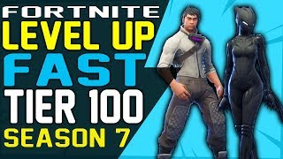 Fortnite How to LEVEL UP FAST SEASON 7, UNLOCK ZENITH and LYNX Full ARMOR SET and RANK UP FAST XP