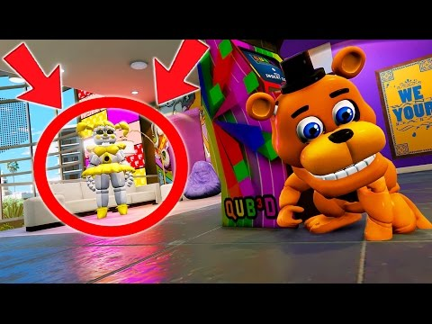 CAN ADVENTURE FREDDY HIDE FROM GOLDEN BABY? (GTA 5 Mods For Kids FNAF Funny Moments)