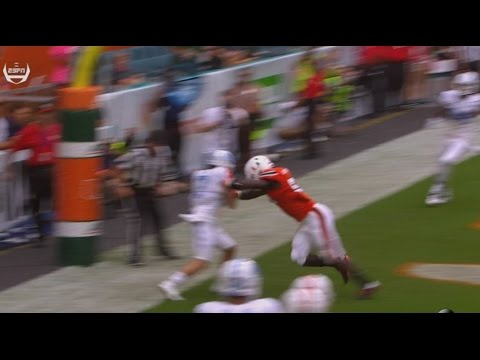 UNC Football: Austin Proehl Tip-Toes for Six at Miami